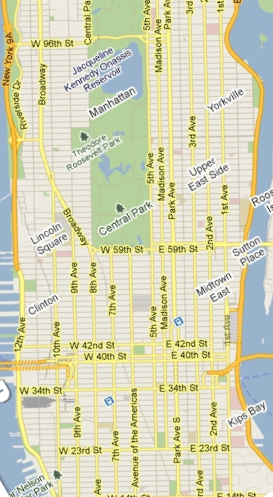 View of Manhattan Streets and Avenues